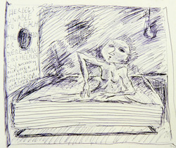 Titus groan drawing on paper