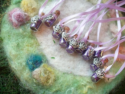 Fairy Queen Favors w Silver Crown & Purple Glitter