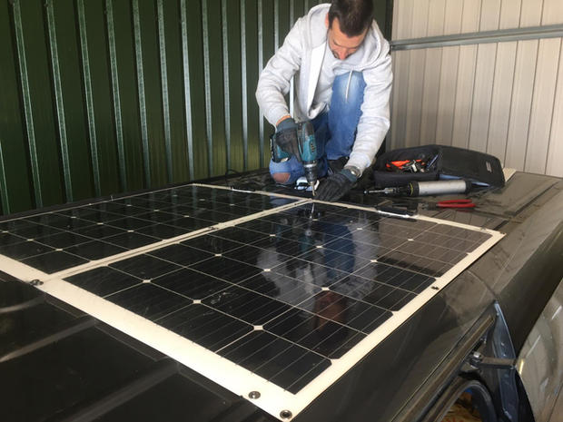 solar panel installation motorhome campervan