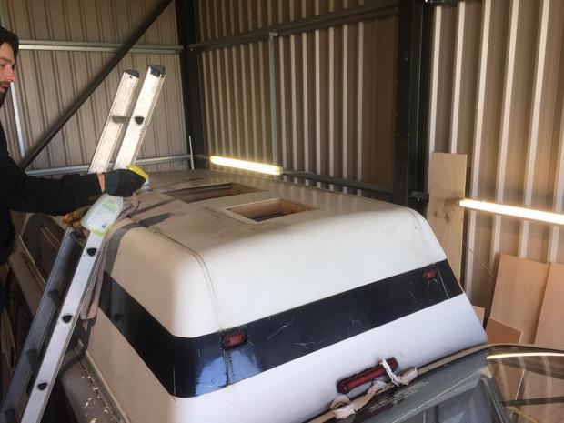 campervan rooflight installation