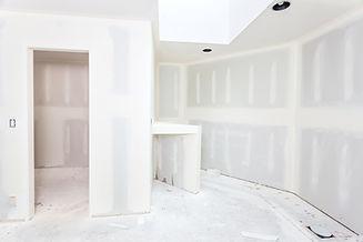 Bathroom remodel progresses as drywall i