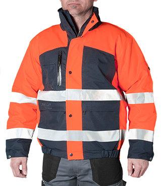 Giaccone da lavoro Zermatt - Alta visibilità (Orange)