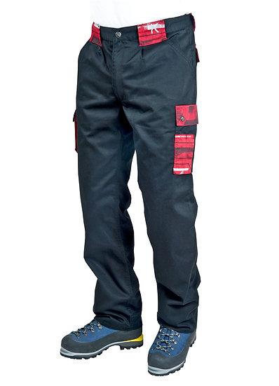 Pantalone da lavoro Trophy (Nero/Rosso)