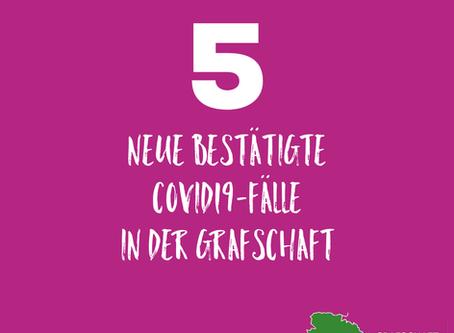 *** 5 neue bestätigte Covid19-Fälle - insgesamt 92 bestätigte Fälle in der Grafschaft Bentheim***