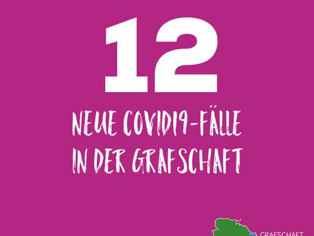 *** 12 neue bestätigte Covid19-Fälle - 93 aktuelle COVID19- Fälle***