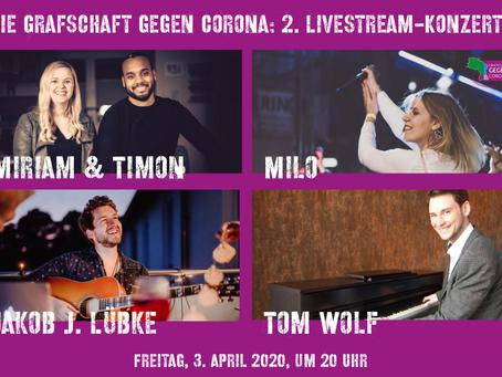 *** Unsere Livestream-Konzertreihe mit Musikern aus der Region geht in die zweite Runde ****