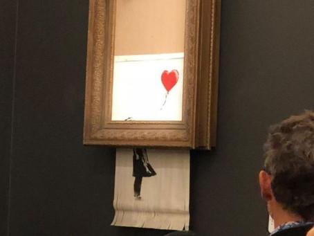 画家自毁百万英镑作品