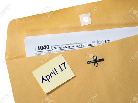 Today is the Tax Return Deadline.
