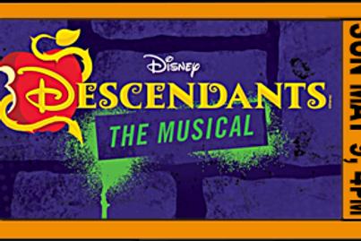 "FAMILY POD ADMISSION, ""Descendants"", 4pm, Sun. May9"