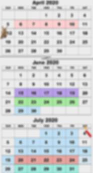 Summer Camp 2020 Calendar Web Stack D05