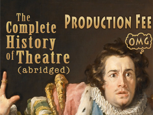 """""""History of Theater..."""" Production Fee Due April 1"""