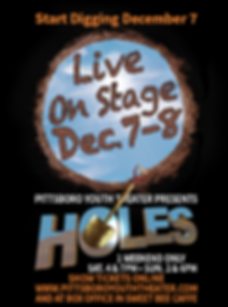 Holes Poster HOLE W SHOW TIMES Website D