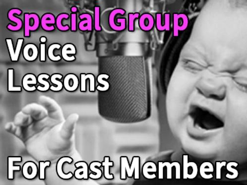 Theater Cast Group Voice Lesson