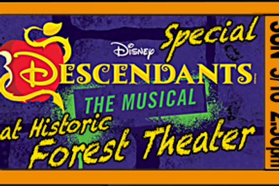 """Admission for 1, """"Descendants"""", 2:30pm, Sun. May16"""