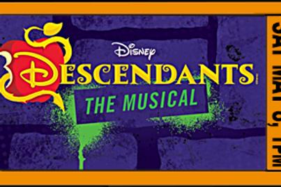 "FAMILY POD ADMISSION, ""Descendants"", 1pm, Sat. May 8"