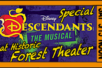 "Admission for 1, ""Descendants"", Noon, Sat. May15"