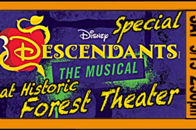 "Admission for 1, ""Descendants"", 2:30pm, Sat. May15"