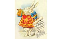 Alice in Wonderland promotional card