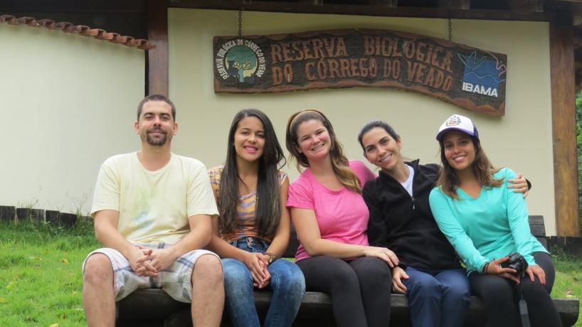Equipe na ReBio Córrego do Veado
