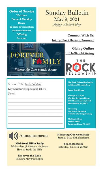 2021 05 09 FOREVER FAMILY Bulletin pg1.p