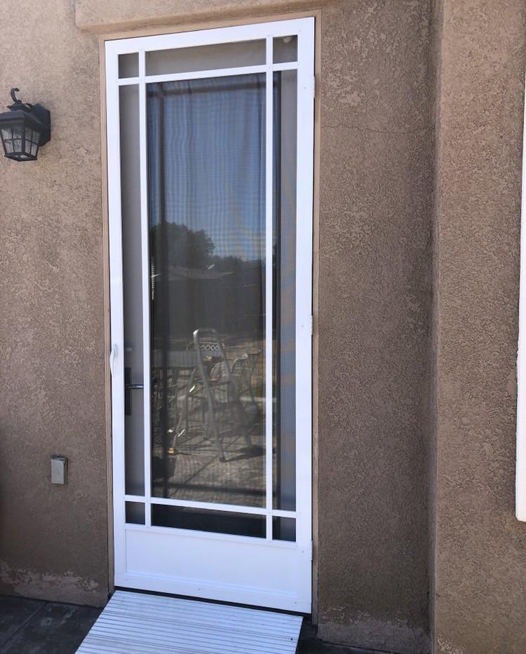 New custom swinging door. Style show is Prarie.