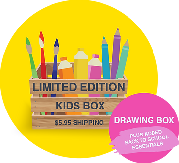 LIMITED EDITION KIDS DRAWING BOX WITH BONUS BACK TO SCHOOL ESSENTIALS!