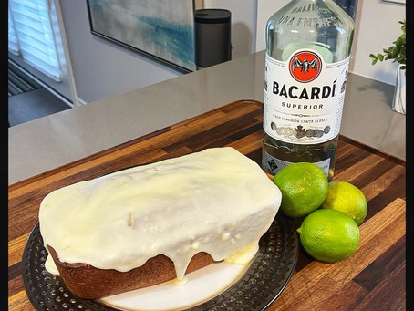 Navy Rum Pound Cake with Lime Icing