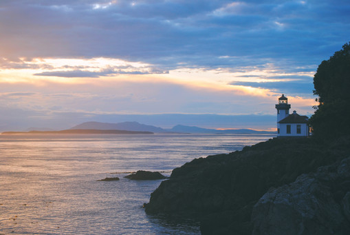 The lighthouse at Lime Kiln Point State Park - San Juan Island