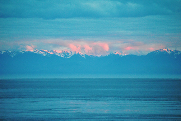 Sunset Over the Olympic Range
