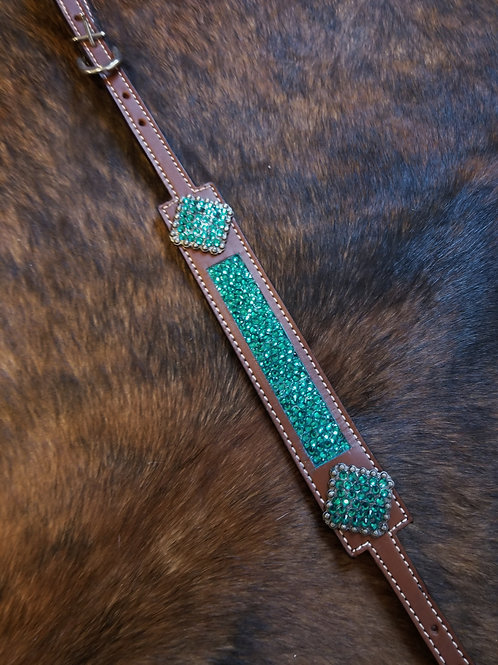 Teal Crystal Wither Strap