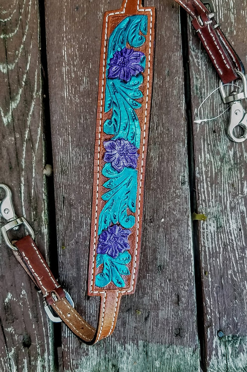 Purple and Teal Wither Strap