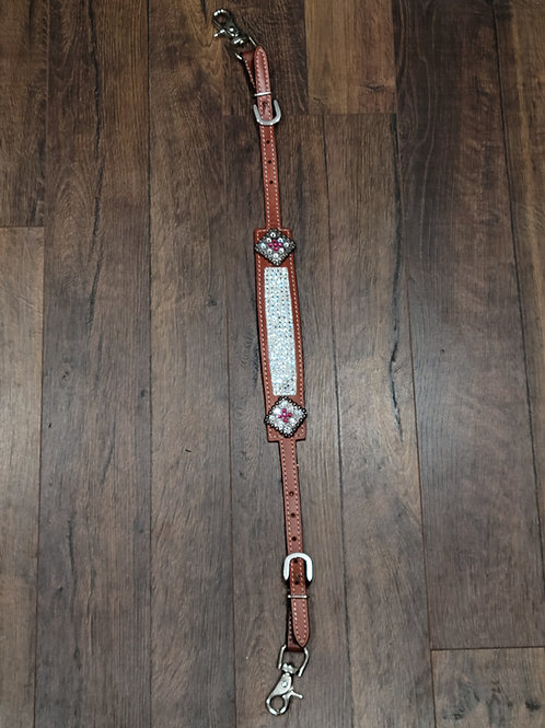 Crystal Clear Wither Strap w Matching Conchos