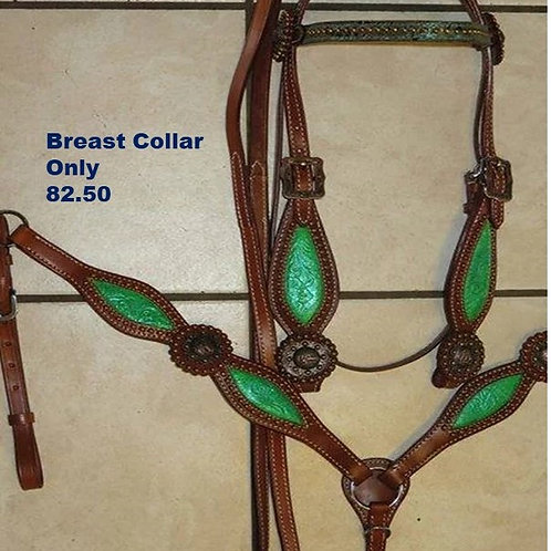 Lime Green Breastcollar Copper Berry Edging