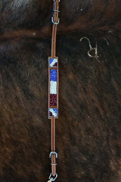 Red White & Blue Crystal  Wither Strap