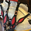 Thumbnail: Red Inlay Bridle Breast Collar Set