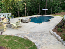 Custom Rectangle with Firepit
