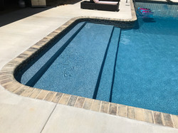 20 x 43 L Shape With Tanning Ledge Step