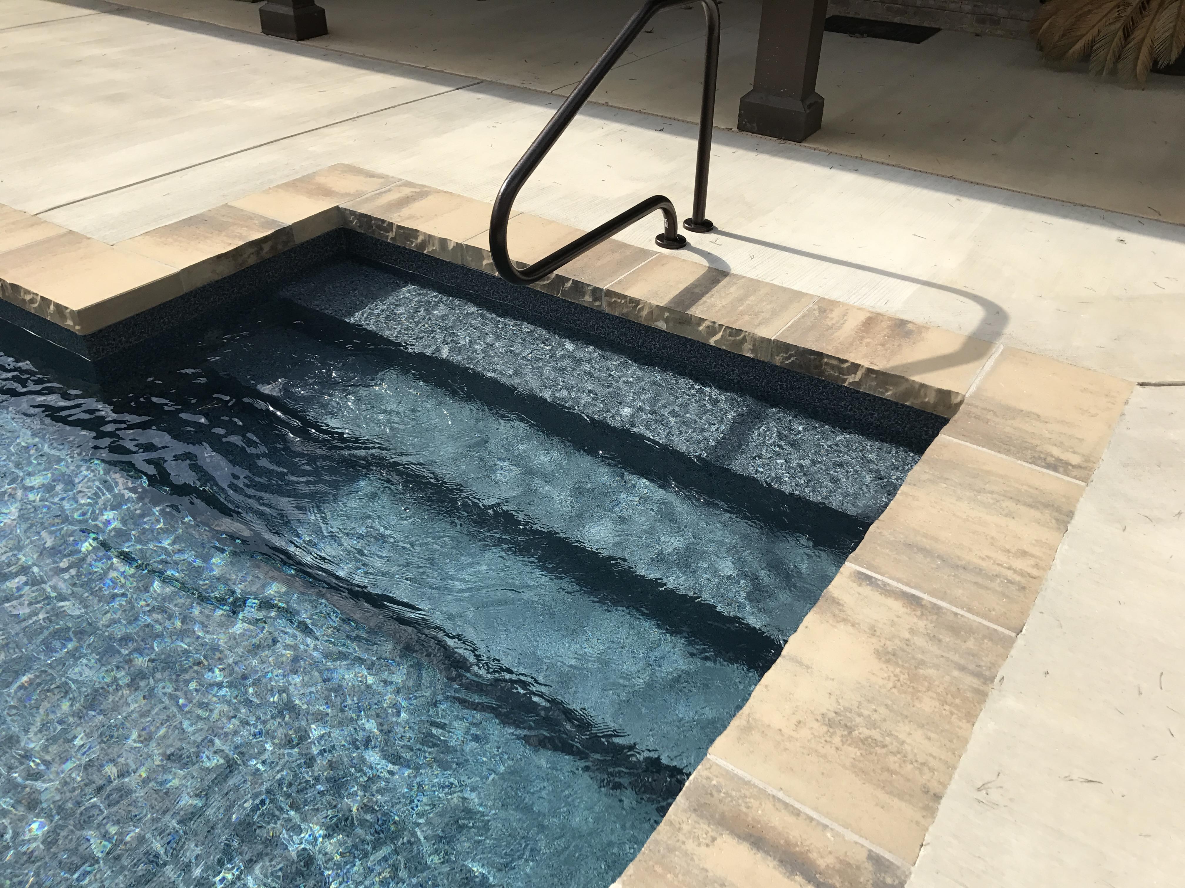 Large Block Pool Coping