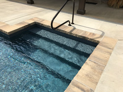 Grey Granite In Pool Steps