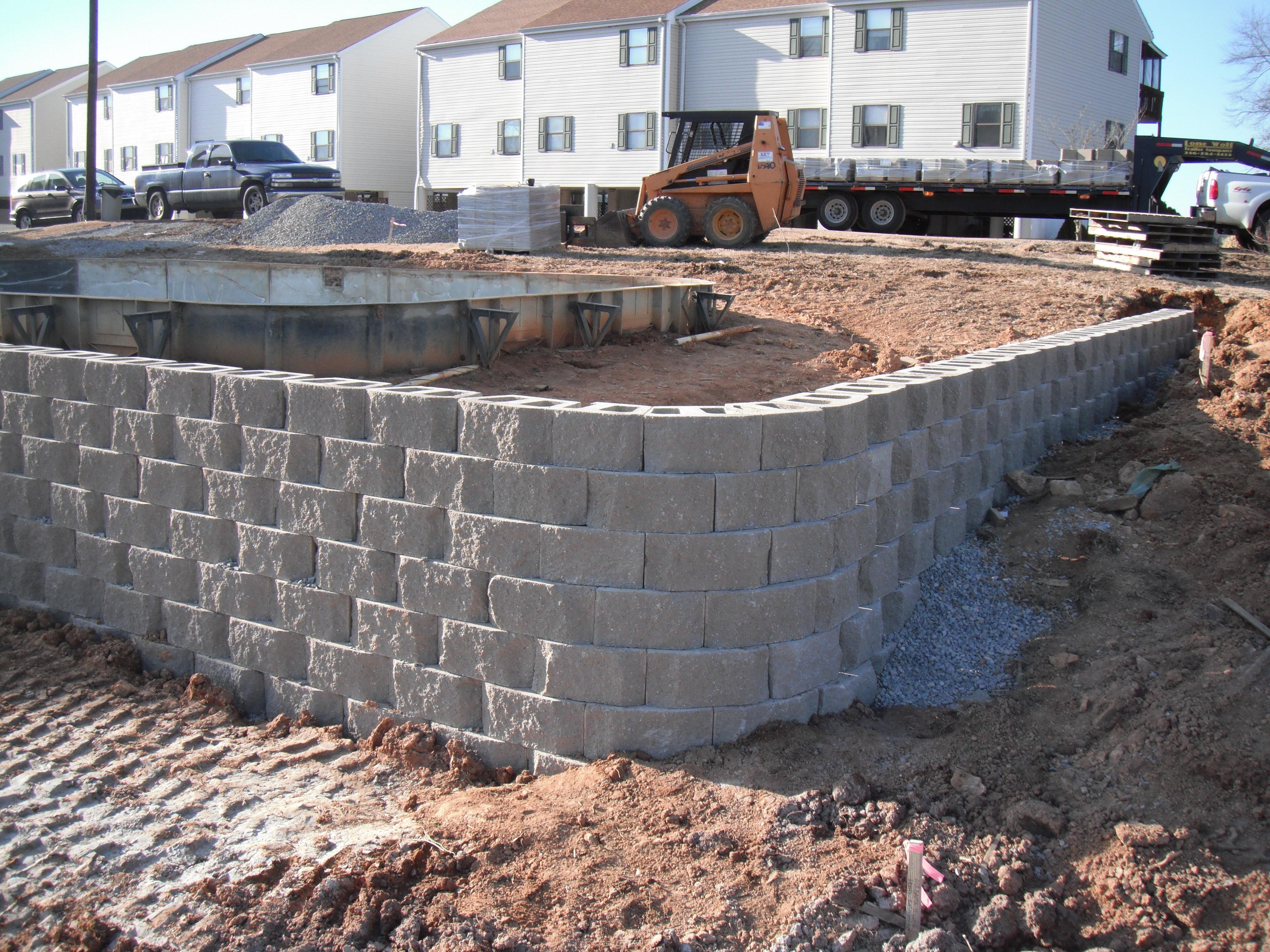 Retaining Wall On Pool Renovation