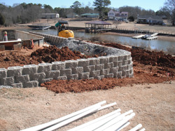 Retaining Wall Lake Renovation