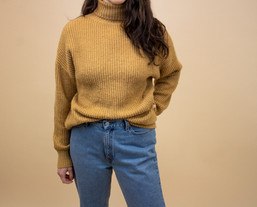 Missguided Caramel Ribbed TurtleNeck Sweater