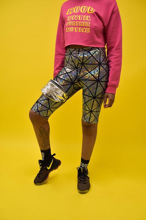 Geometric Glow Biker Shorts