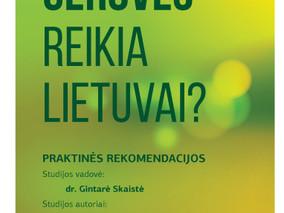 """Išleista studija """"Kokios gerovės reikia Lietuvai? Praktinės rekomendacijos"""""""