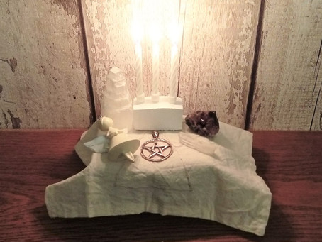 Making A Portable Angel Altar.