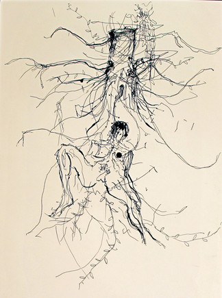Figura con tronco d'albero