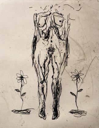 Corpo Ignoto con fiori
