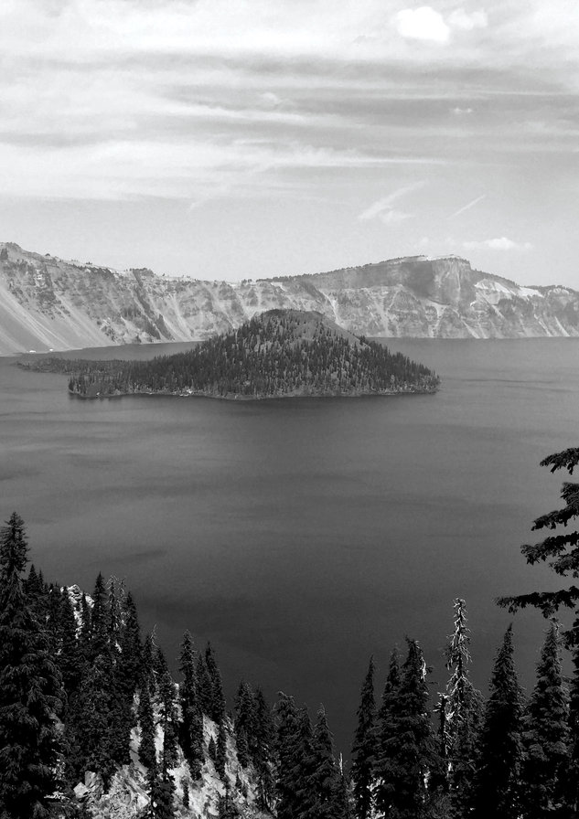 Crater Lake Black and White.jpg