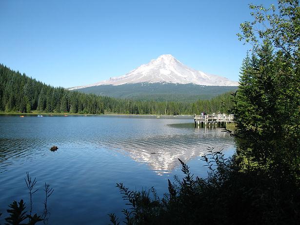 View of Mount Hood in Summer