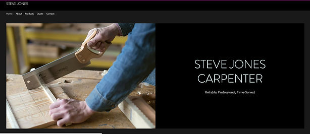 Example of Affordable, low cost Sole Trader carpenter's website